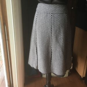 Sunny Leigh  Black & White Pleated Skirt, Size 12